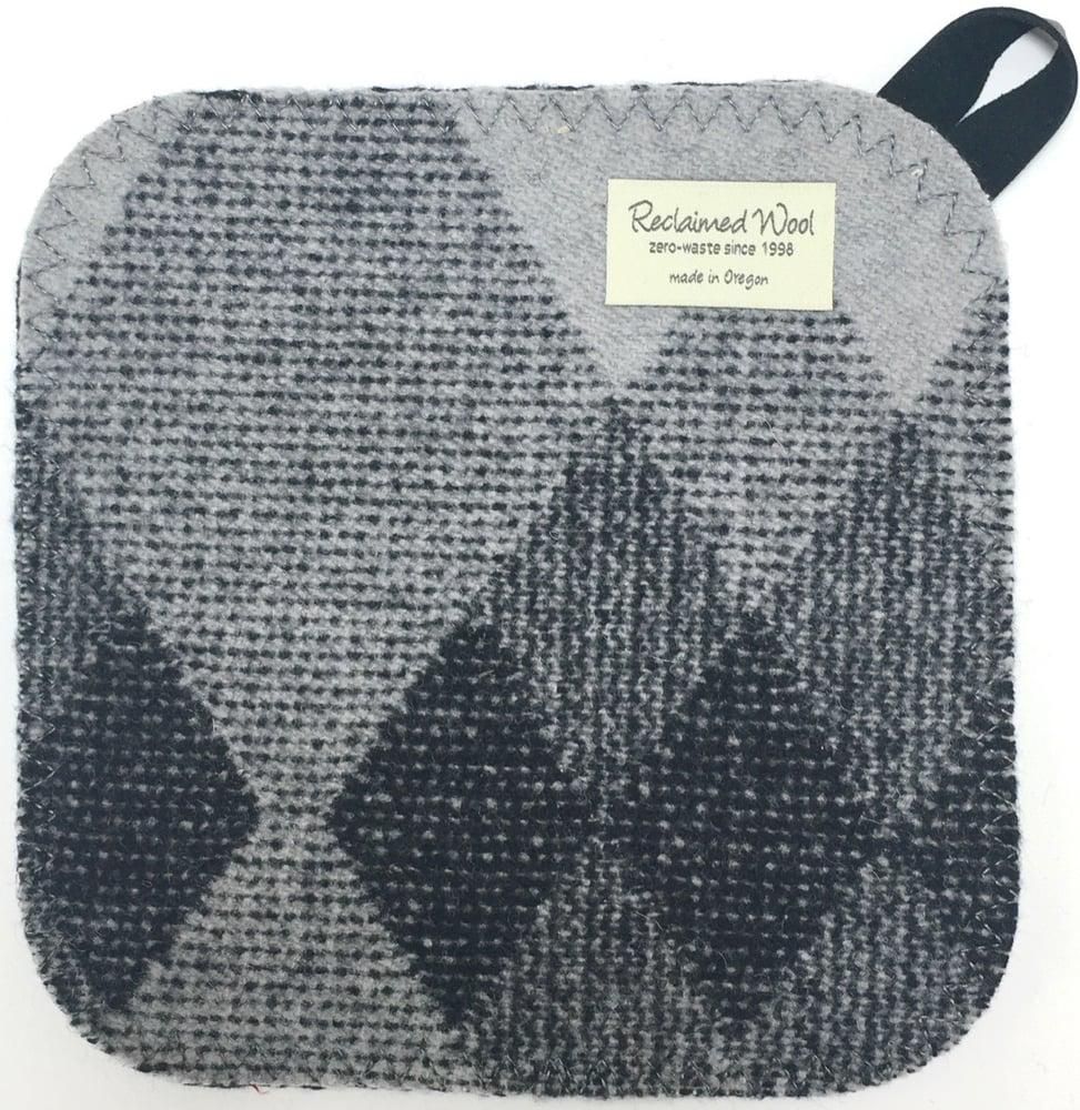 Image of Western Wool Potholder - Grey Diamonds **SALE**