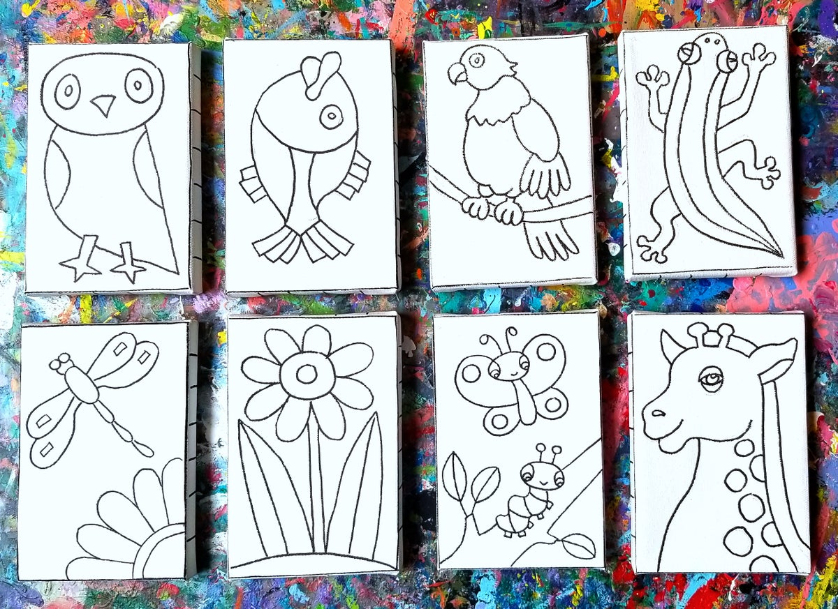 """Image of 4"""" x 6"""" Canvas - variety of designs"""