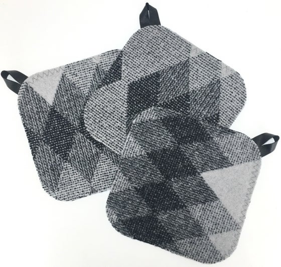 Image of Western Wool Potholder - Grey Diamonds **SALE**