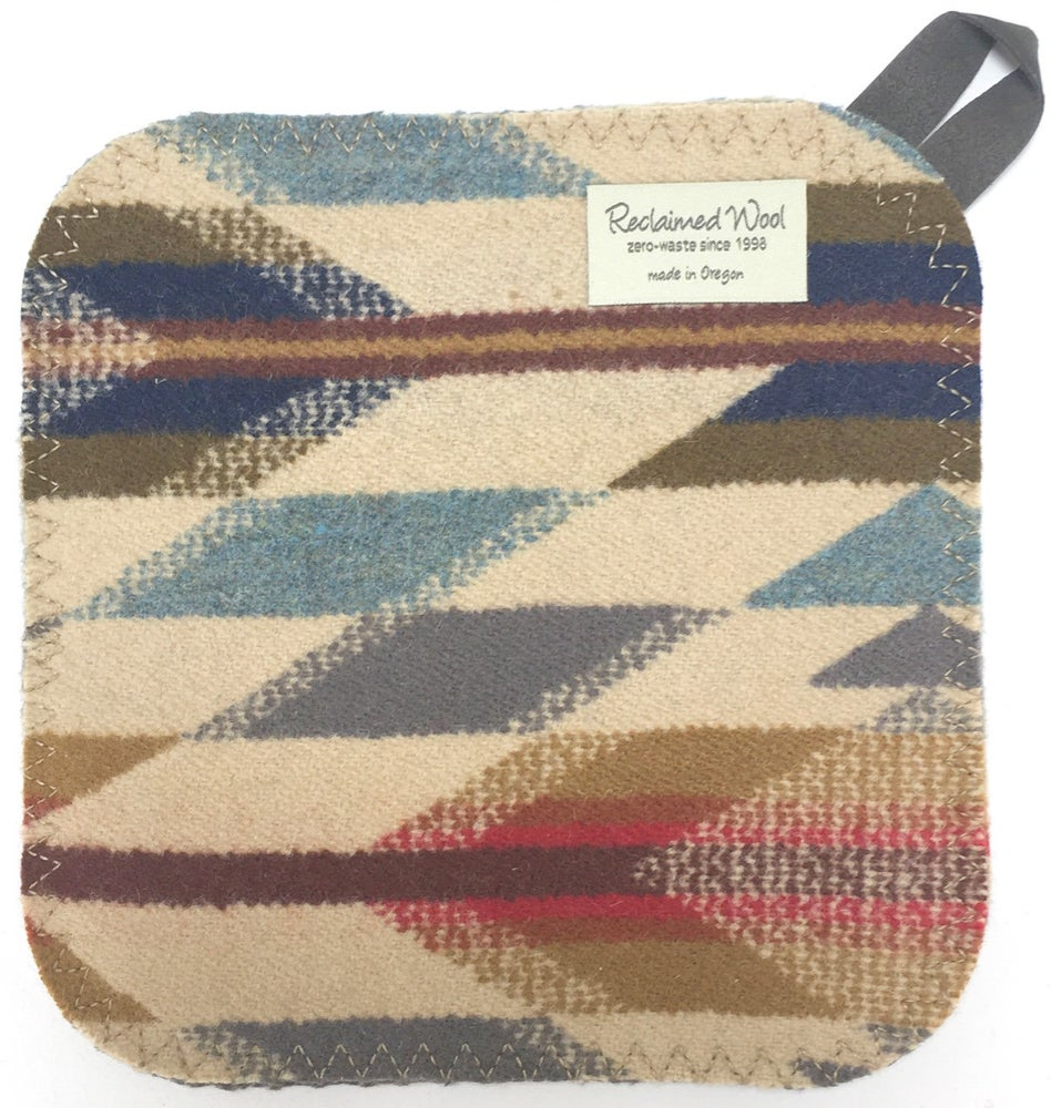 Image of Western Wool Potholder - Tan/Grey/RGB