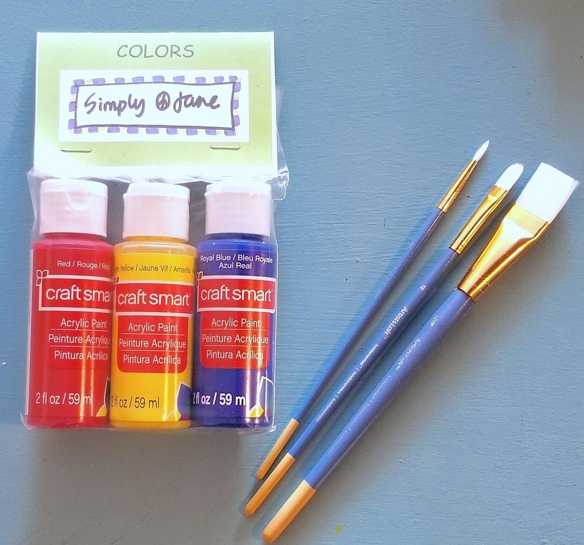 Image of Acrylic Paint & Brushes Set