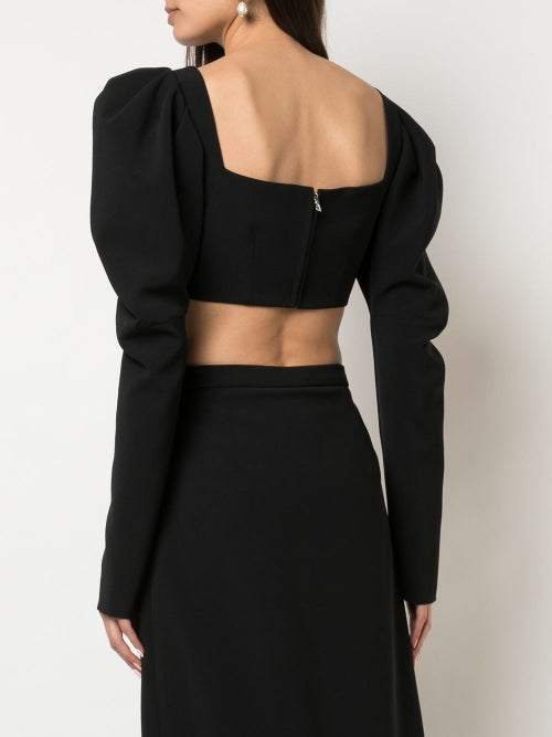 Image of Ruched Front Crop Top