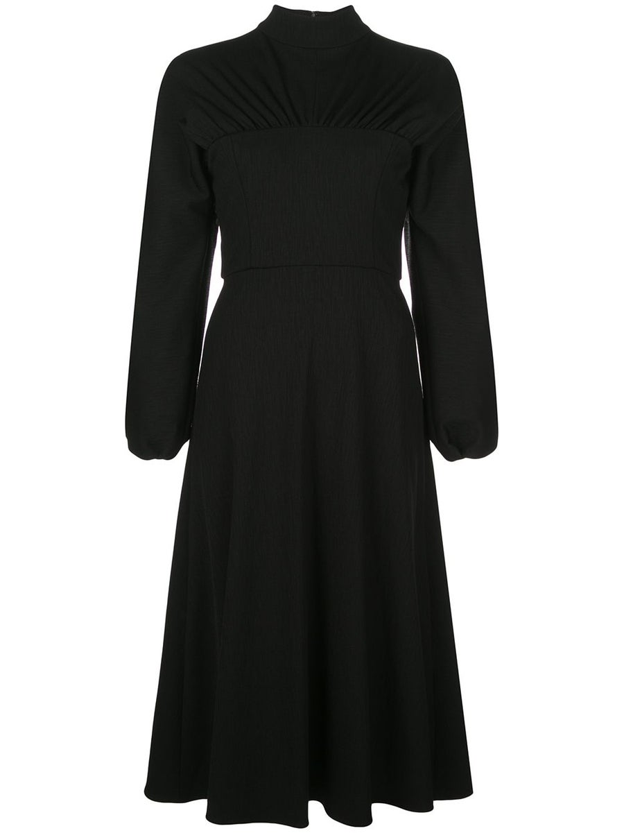 Image of Long Sleeve Mock Neck Dress