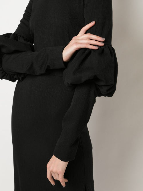 Image of Fitted Puff Sleeve Dress
