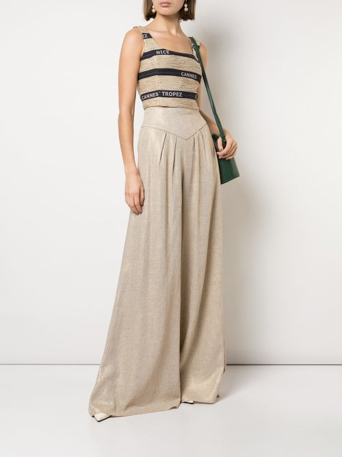 Image of High Waisted Palazzo Trousers