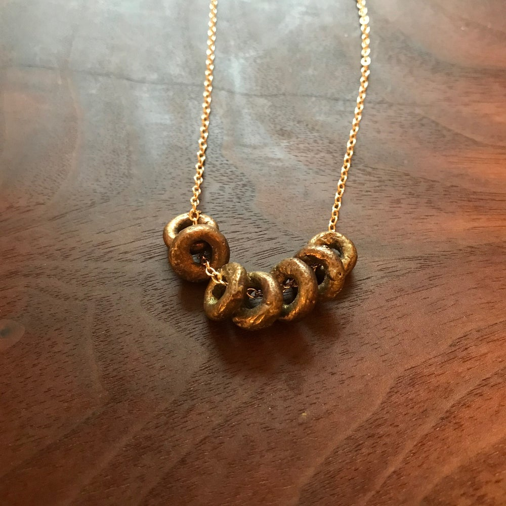 Image of Bronze circles necklace