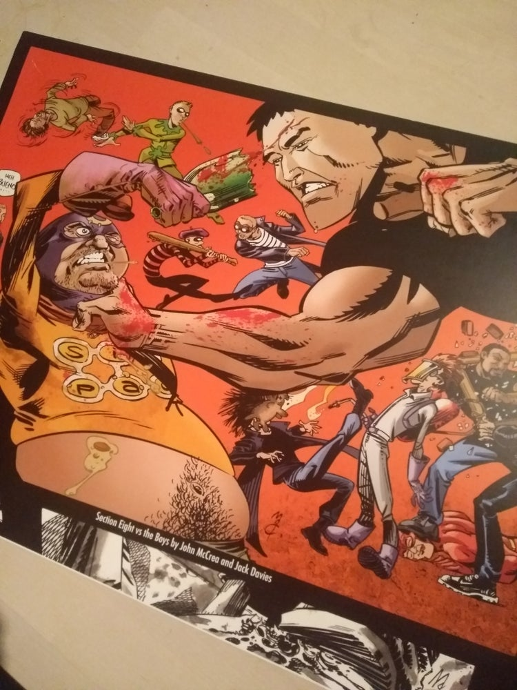 Image of 4 prints- Hitman/ Preacher/ the Boys/ Section 8 / Hellblazer