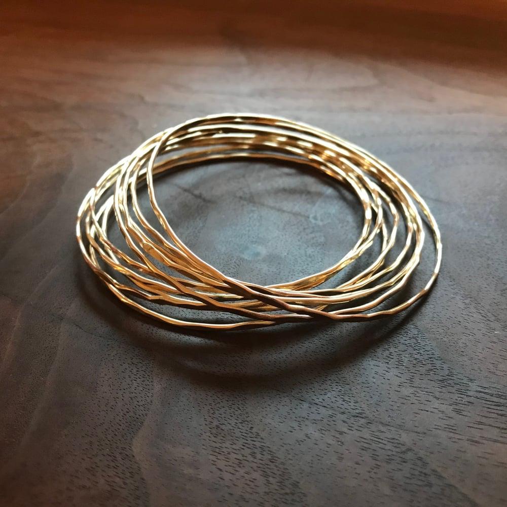 Image of Golden light Bangles