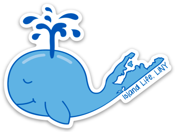 Image of Island Life Whale Decal