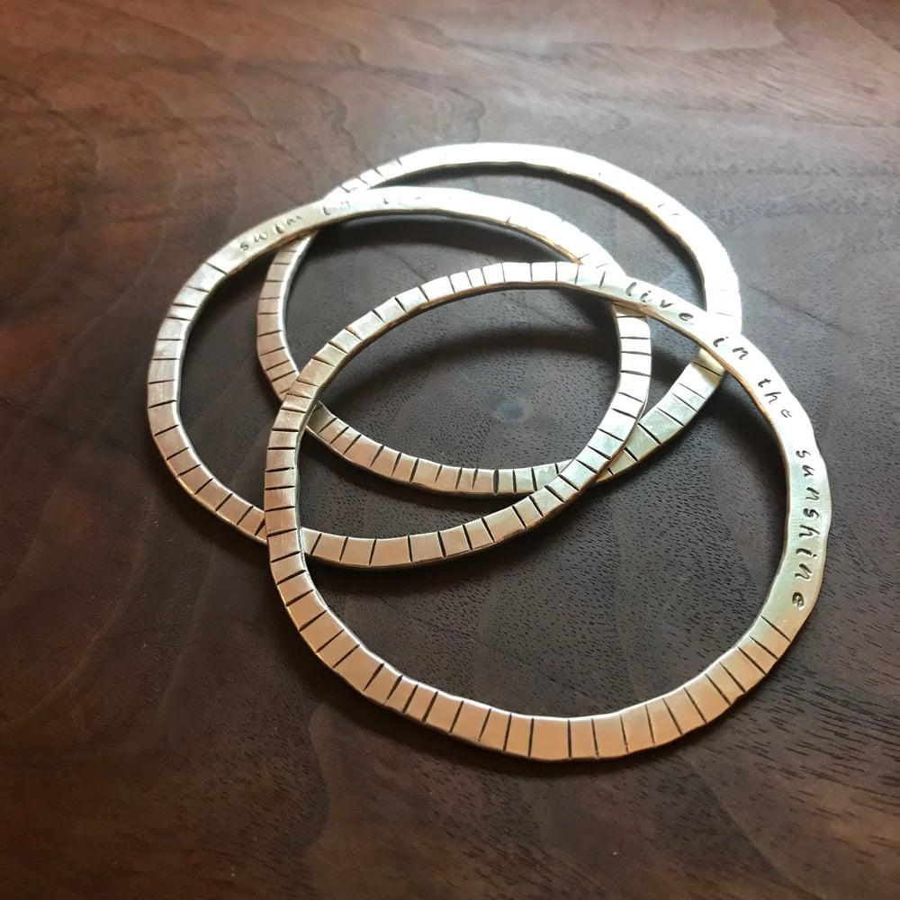 Image of Silver Sun bangles