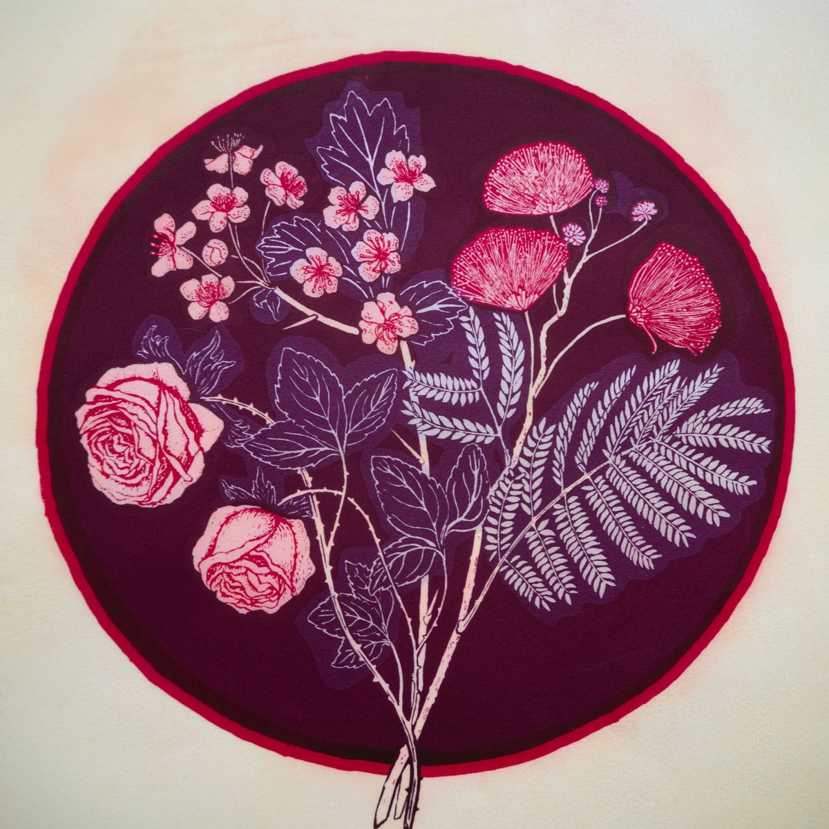 Image of  Three Plants for Grief  & Heartache: Rose, Mimosa, Hawthorn,
