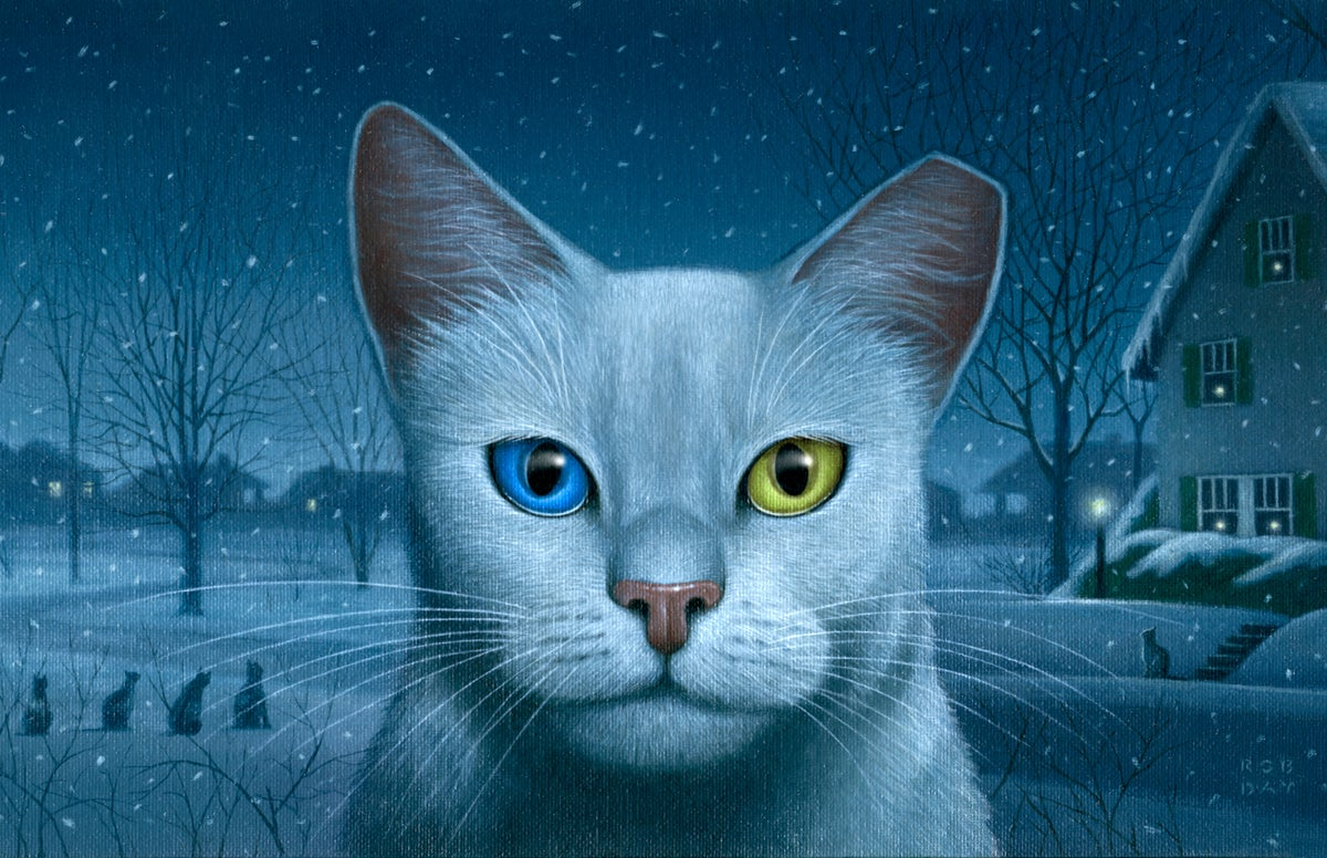 Image of Winter Cats archival print