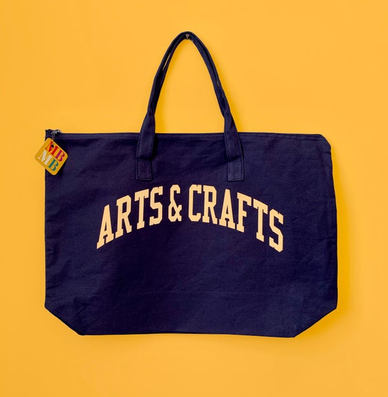 Image of Arts and Crafts large zip tote