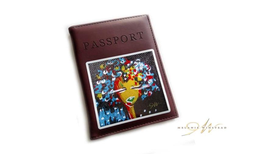 Image of Vegan Passport Covers w/Vinyl Art Decal (5 Options)