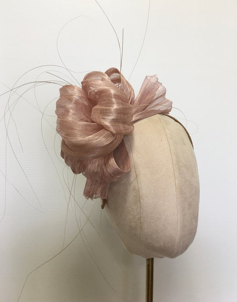 Image of Soft mauve headpiece