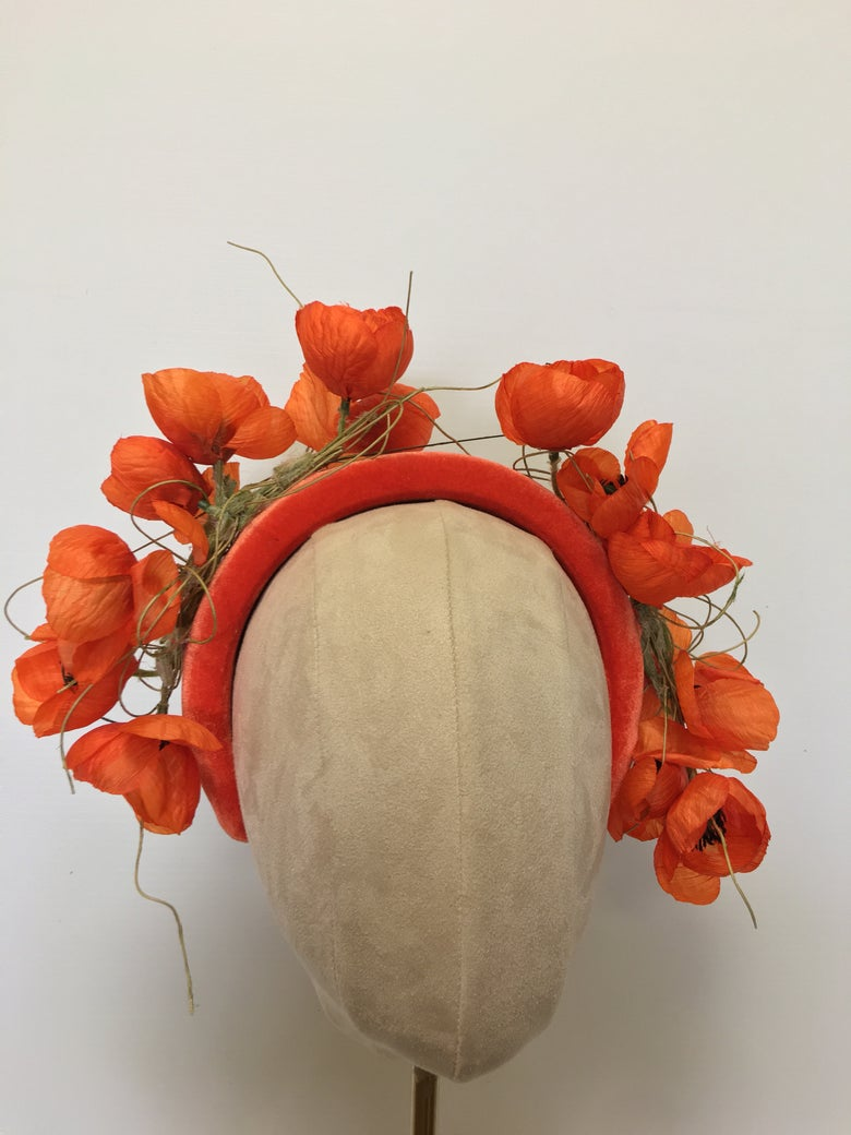Image of Orange flower headband