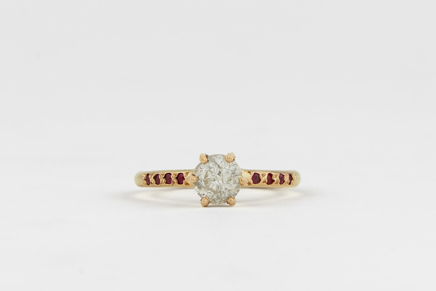 Image of Salt and Pepper Solitaire ring