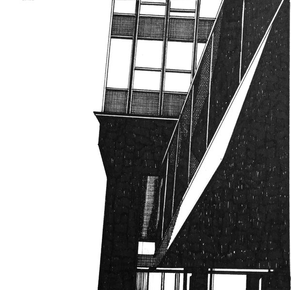 Image of Sheffield Arts Tower. Original Pen & Ink Study #3