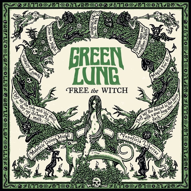 Image of Green Lung - Free the Witch forest green vinyl