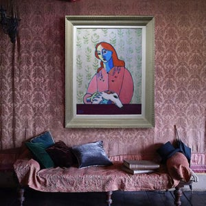 Image of Large Contemporary painting, 'Juliette and Romeo,' Poppy Ellis