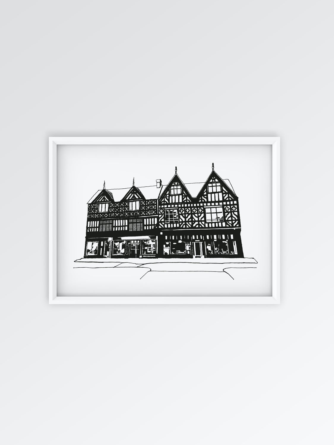 Image of Tudor Building A3 print / LIMITED EDITION