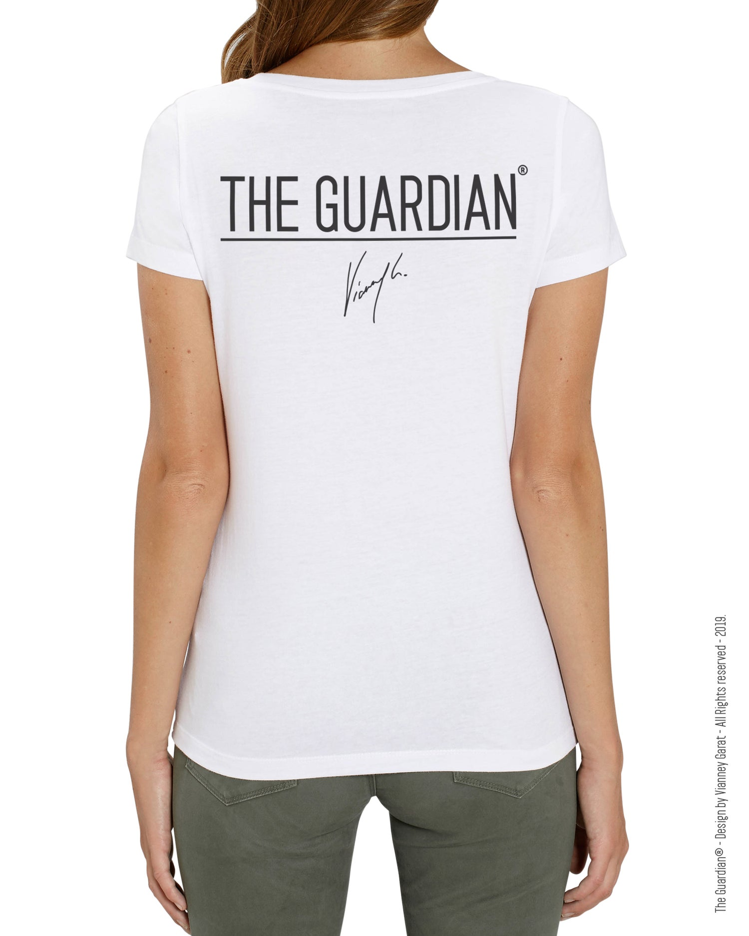 Image of T-SHIRT FEMME-  THE GUARDIAN® - ANGEL EDITION - Limited Edition