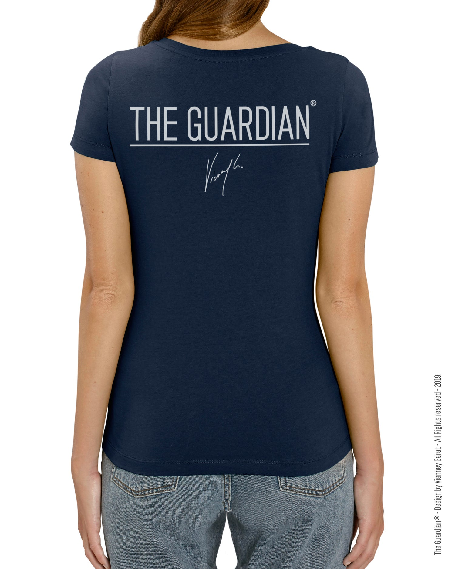 Image of T-SHIRT FEMME- THE GUARDIAN® - BLUE NAVY EDITION - Limited Edition