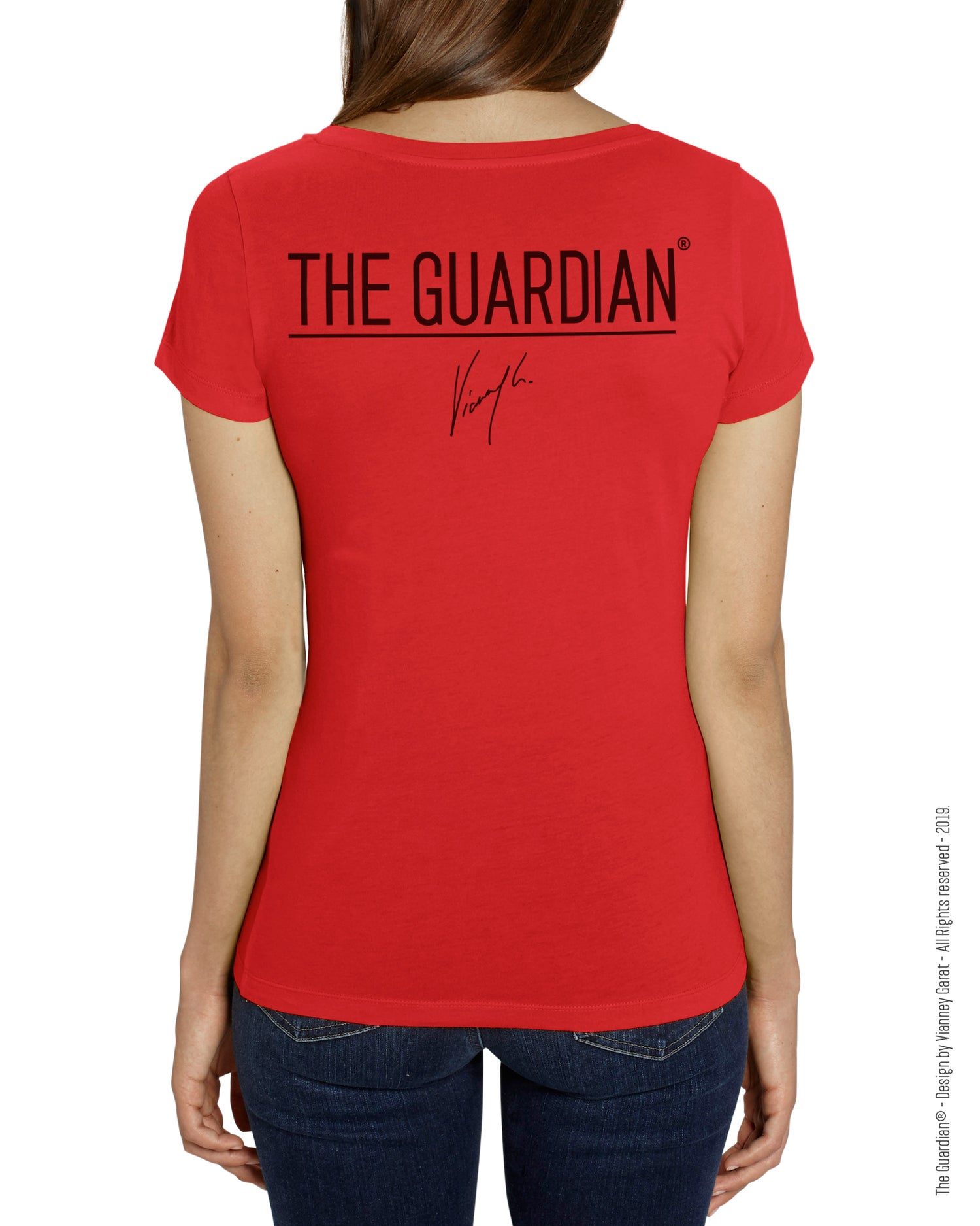 Image of T-SHIRT FEMME- THE GUARDIAN® - FIRE EDITION - Limited Edition