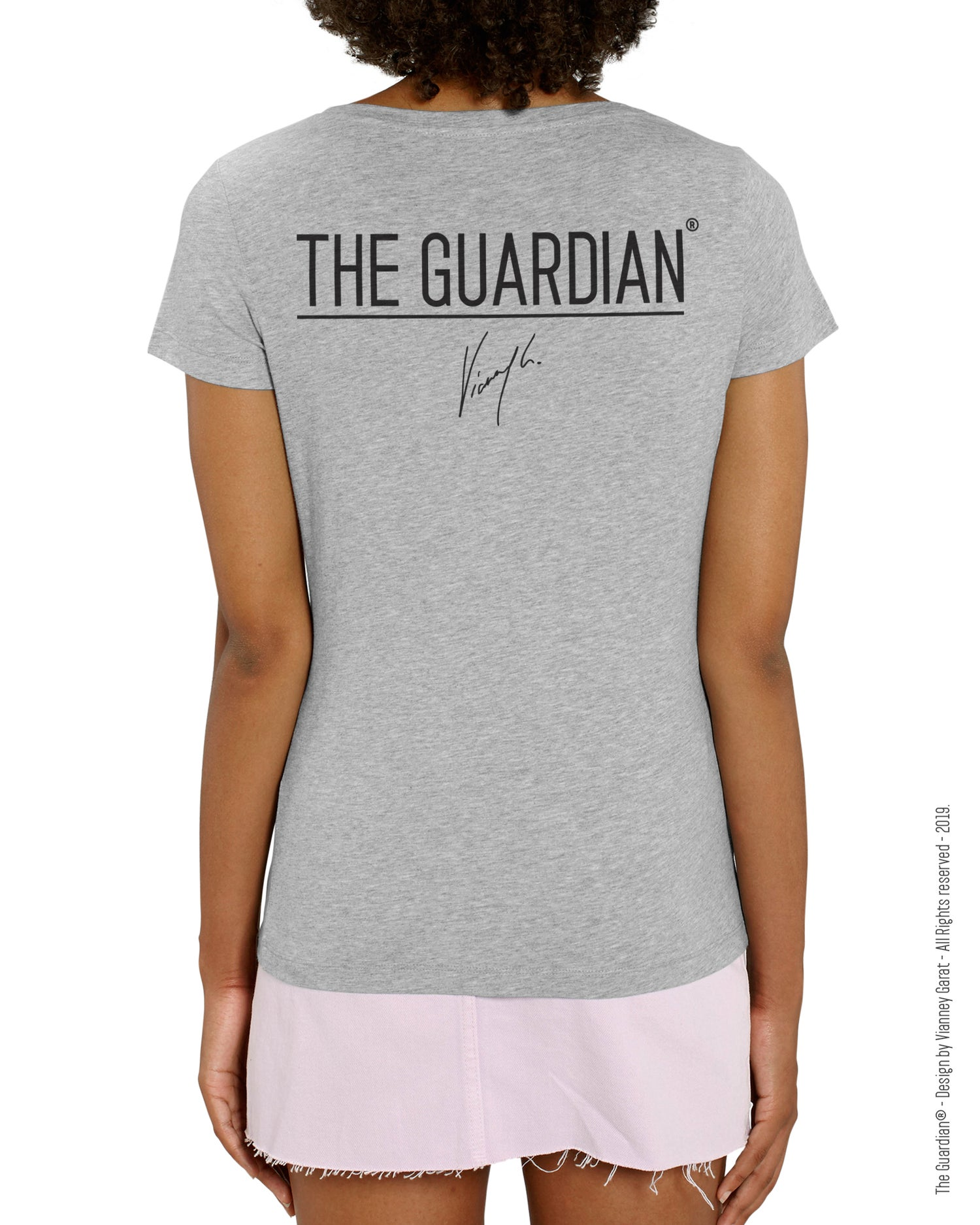 Image of T-SHIRT FEMME- THE GUARDIAN® - LIGHT GREY EDITION - Limited Edition