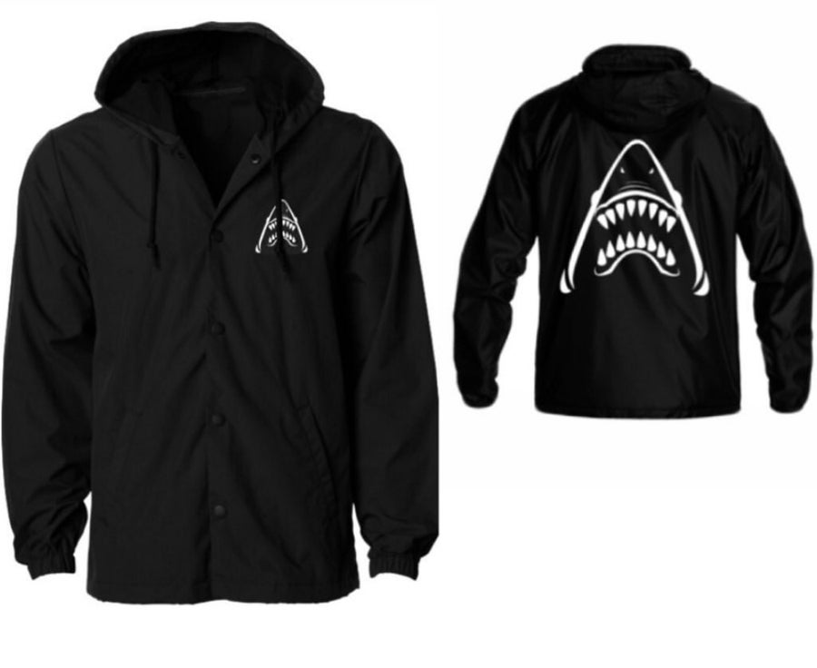 Image of Blacked out Sharkhead windbreaker