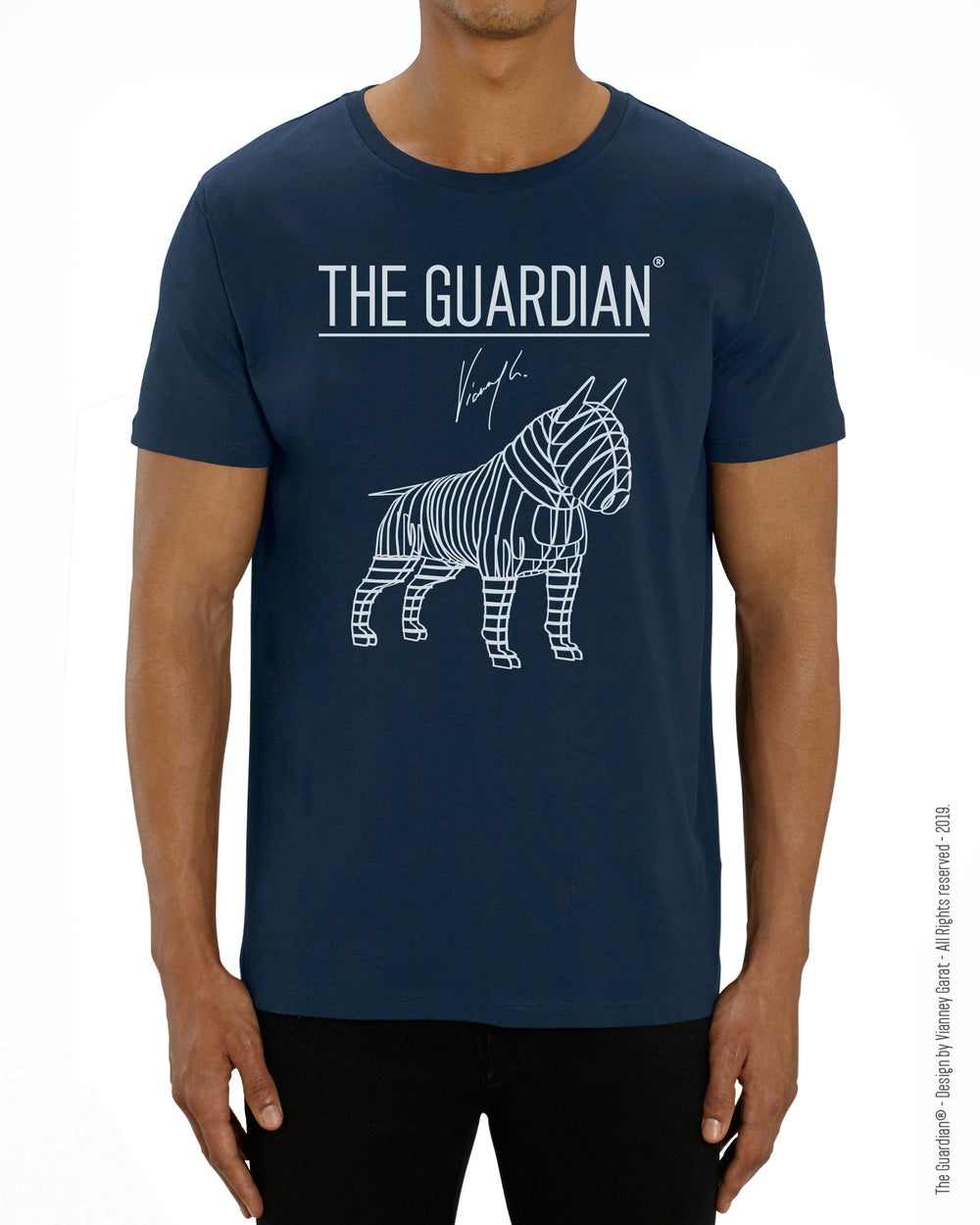 Image of T-SHIRT THE GUARDIAN® - BLUE NAVY EDITION - Limited Edition