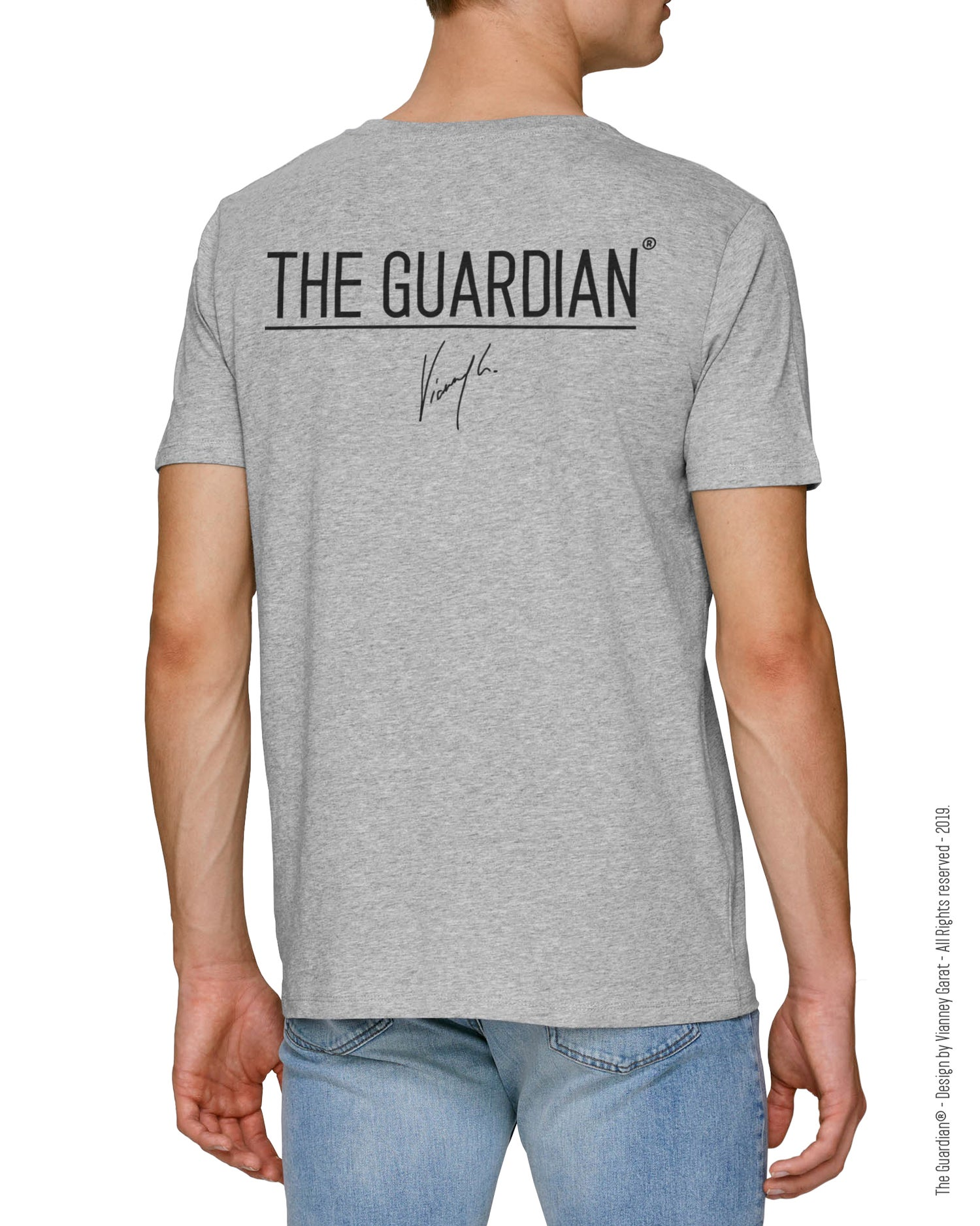 Image of T-SHIRT THE GUARDIAN® - LIGHT GREY EDITION - Limited Edition