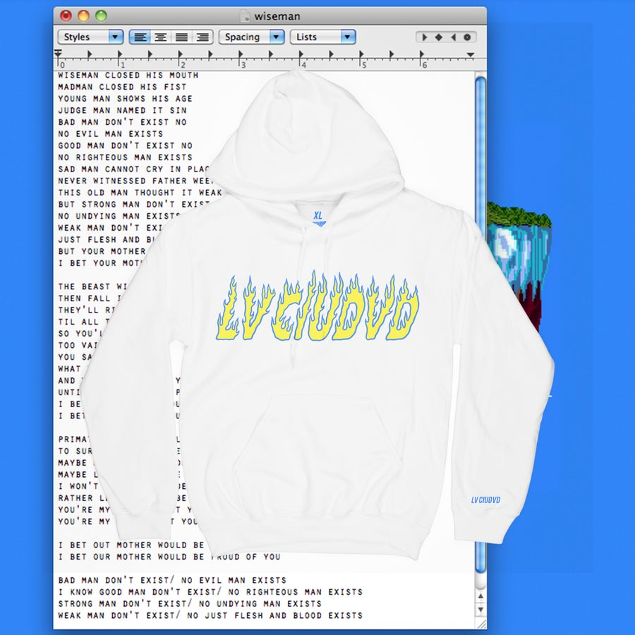 Image of LV CIUDVD ON FIRE HOODIE