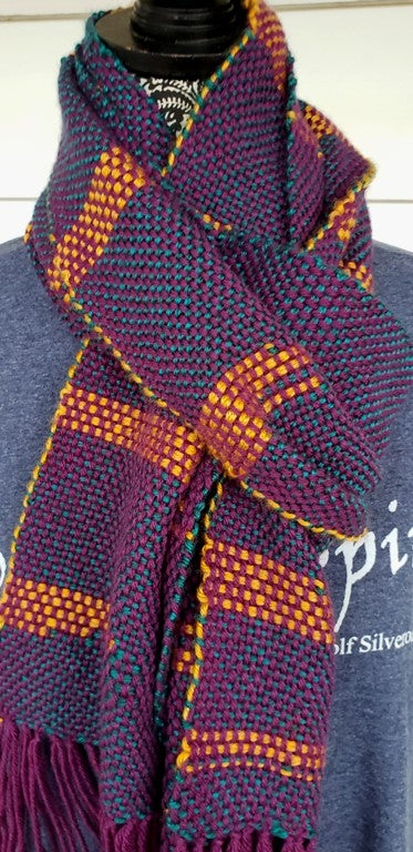 Image of TriColor, scarf, handwoven