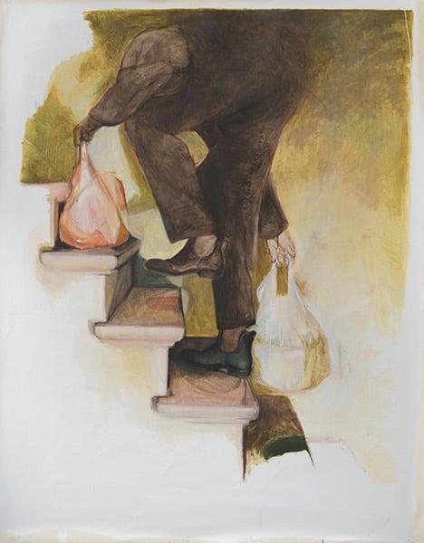 """Image of Chloé Silbano """"LA MARCHE DES SACS"""" 2017 - SOLD"""