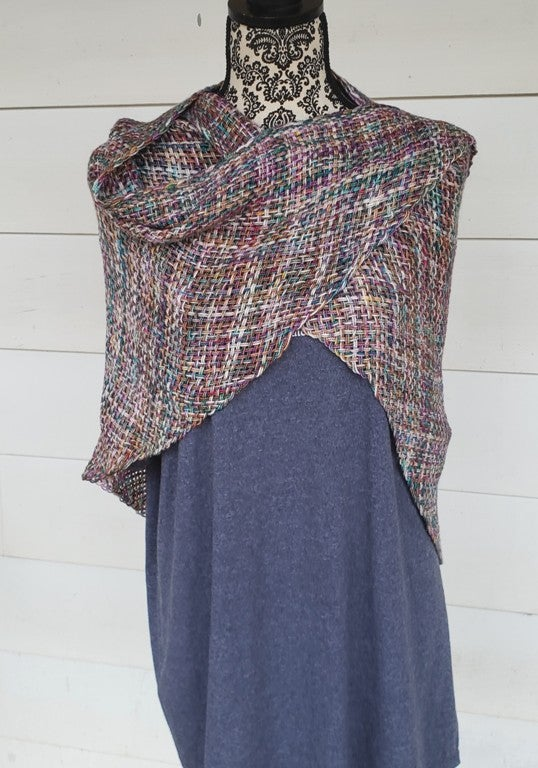 Image of Spring Frost, shawl, handwoven