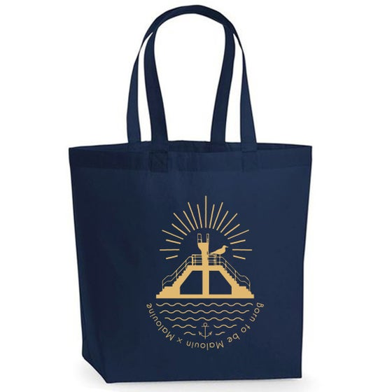 Image of TOTE BAG NAVY PLONGEOIR