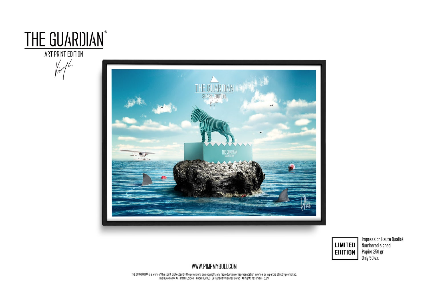 Image of ART PRINT - THE GUARDIAN® SHARK - Limited Edition 50 Units.