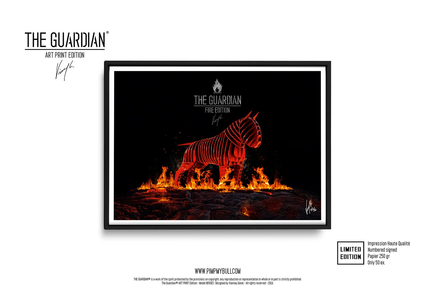 Image of ART PRINT - THE GUARDIAN FIRE - Limited Edition 50 Ex.