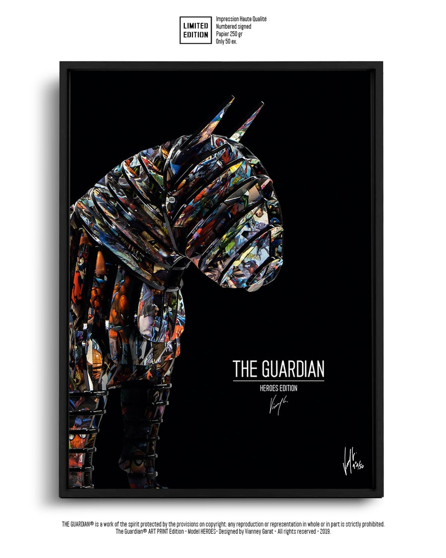 Image of ART PRINT - THE GUARDIAN HEROES - Limited Edition 50 Units.