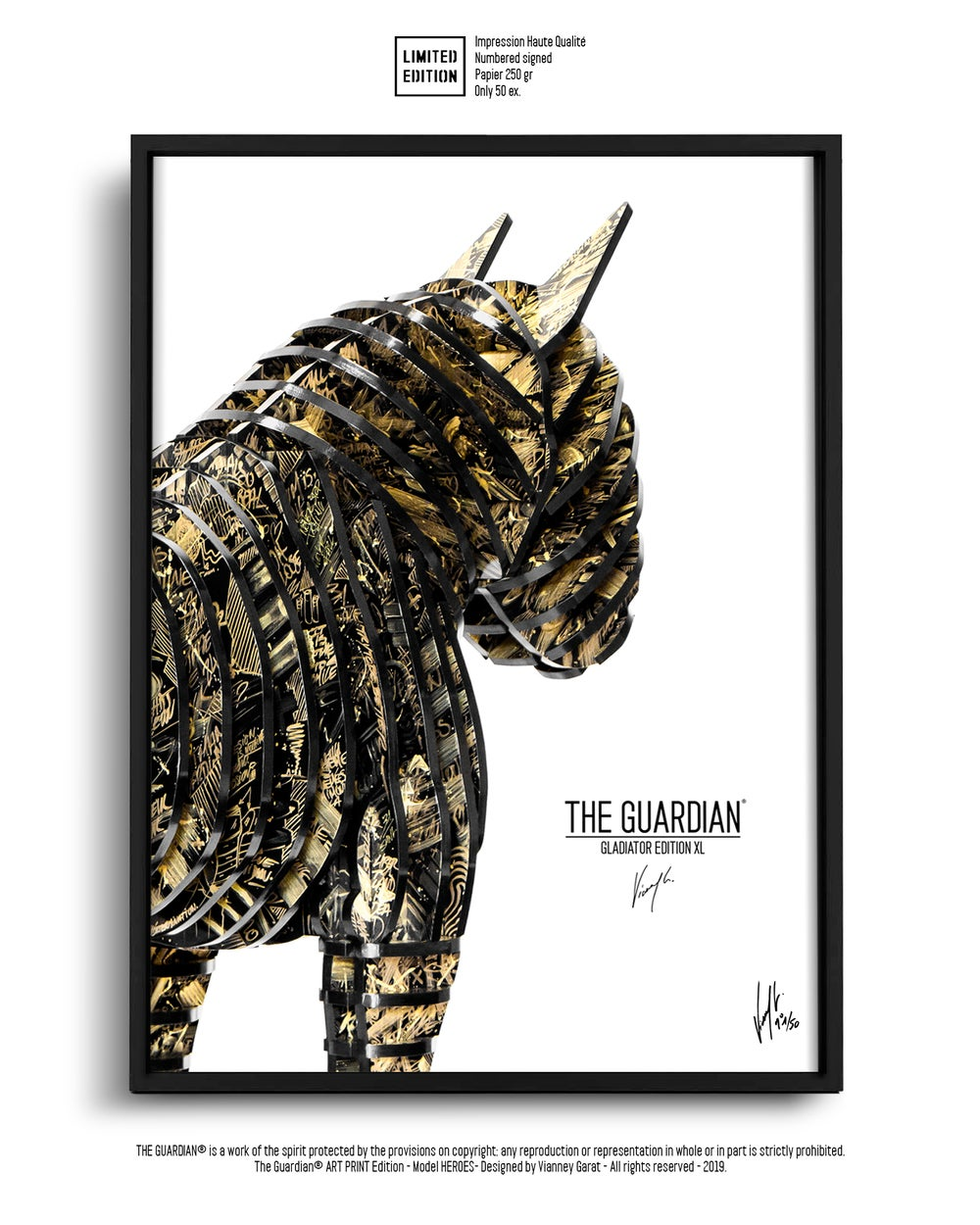 Image of ART PRINT - THE GUARDIAN GLADIATOR - Limited Edition 50 Units.