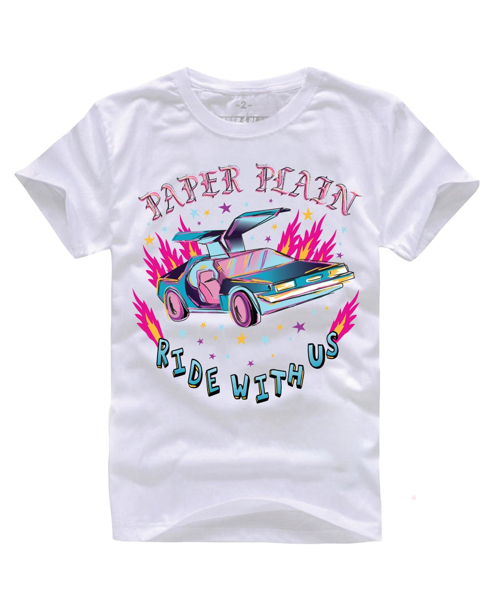 RIDE WITH US CAR TEE WHITE