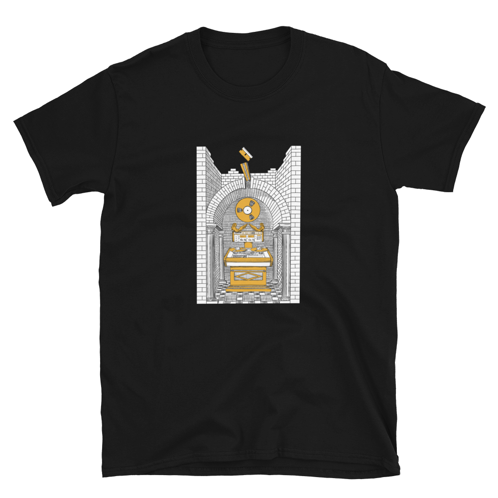 Splicing Altar Shirt - Black/Gold