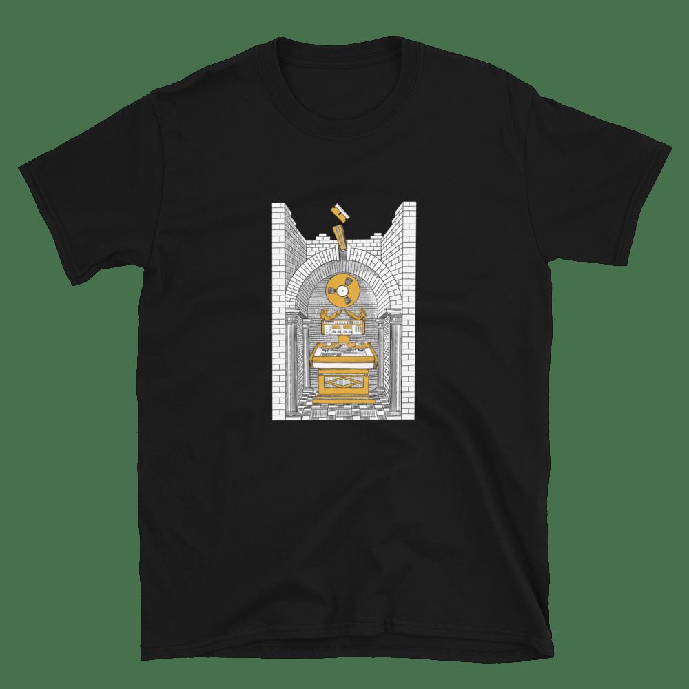 Image of Splicing Altar Shirt - Black/Gold