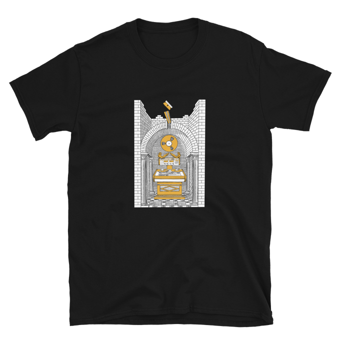 Image of Splicing Altar Shirt - Black/Gold