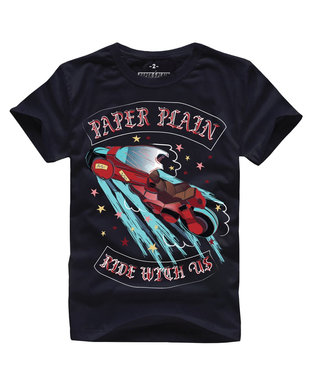 RIDE WITH US BIKE TEE BLACK