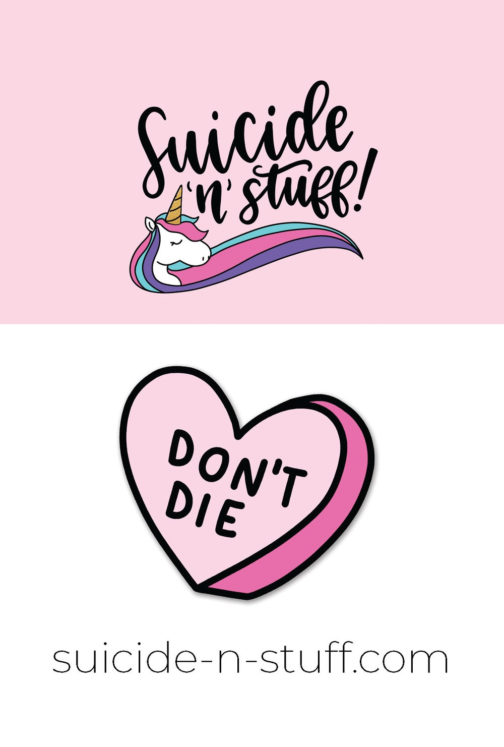 Image of Suicide 'n' Stuff Don't Die Enamel Pin - PREORDER