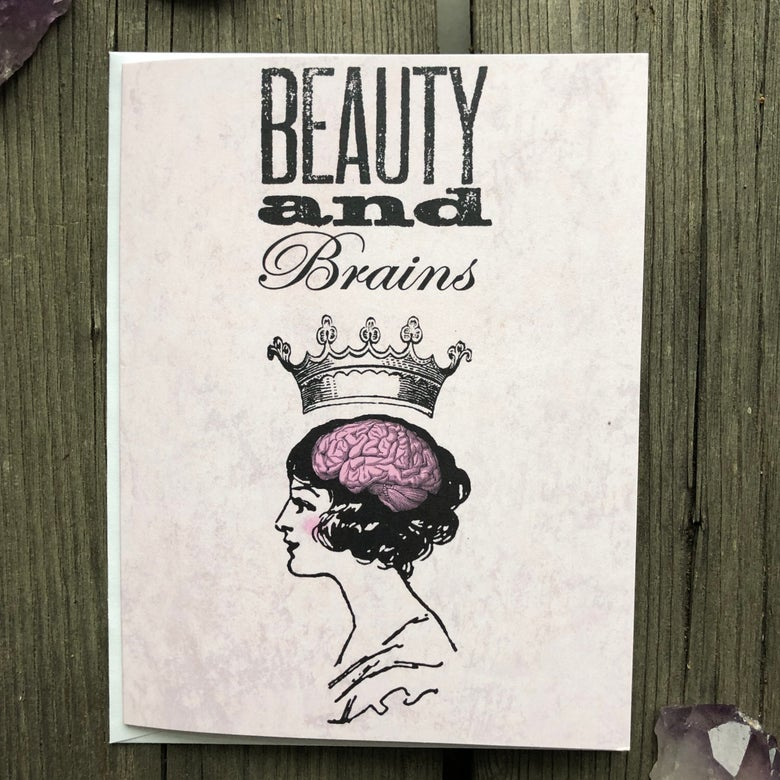 Image of Beauty and Brains Card