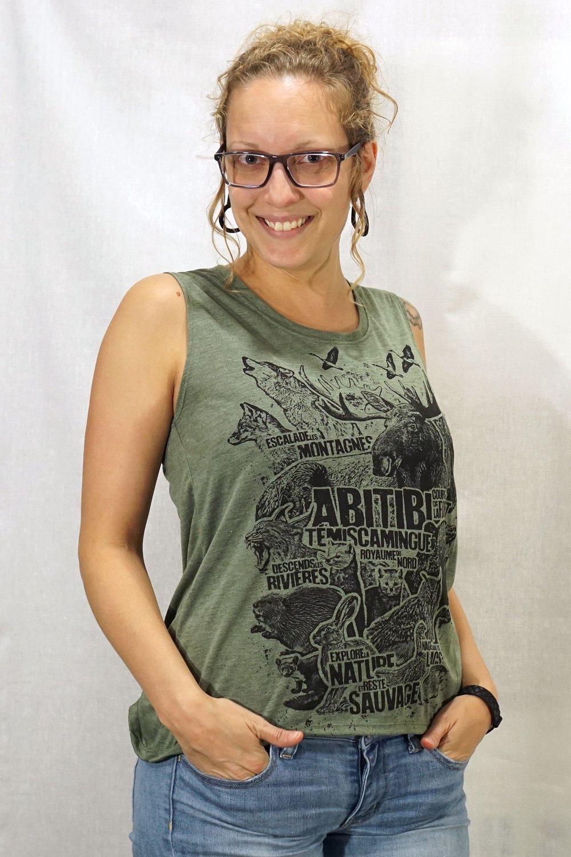 Image of Abitibi-Témiscamingue Animal / Femme Sleeveless Tee