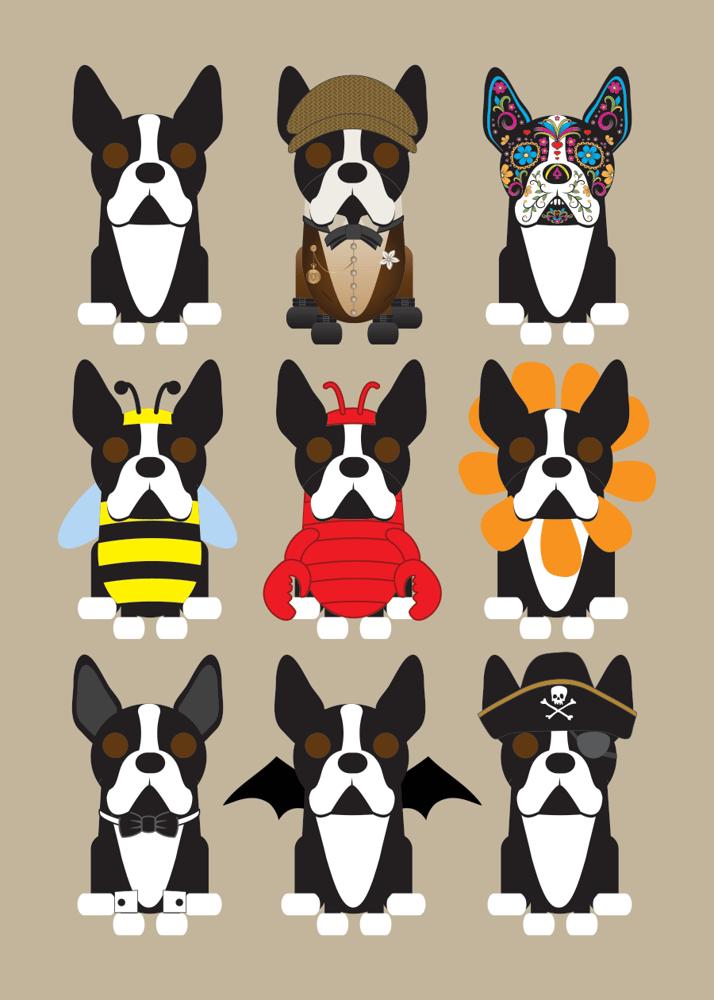 Image of Multi Dog Prints